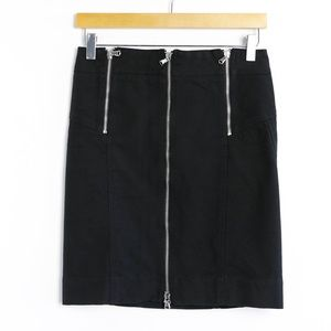 Marc Jacobs zippers black mini pencil skirt punk 0